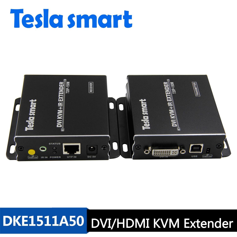 150M DVI/HDMI KVM+IR Extender