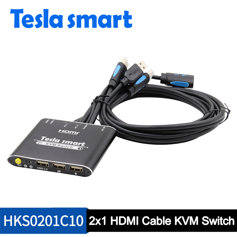 2x1 HDMI Cable KVM Switch