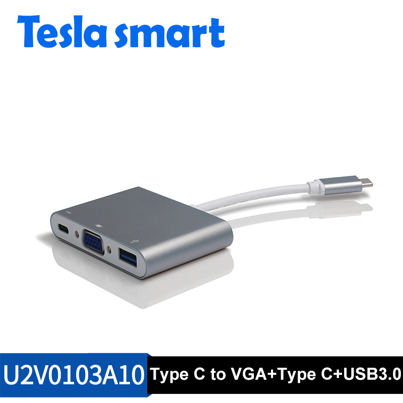 Type-C to VGA and USB3.0 adapter