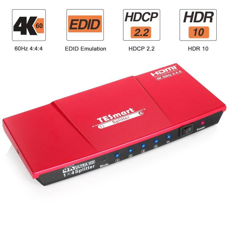 1x4 HDMI Splitter 4K@60Hz 4:4:4