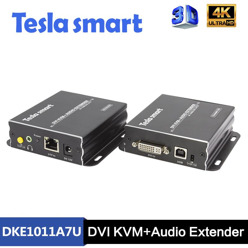 100M DVI KVM+Audio UHD Extender