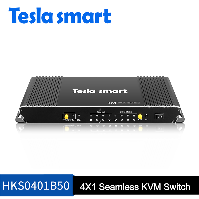 4 Ports Seamless HDMI KVM Switch w/PIP