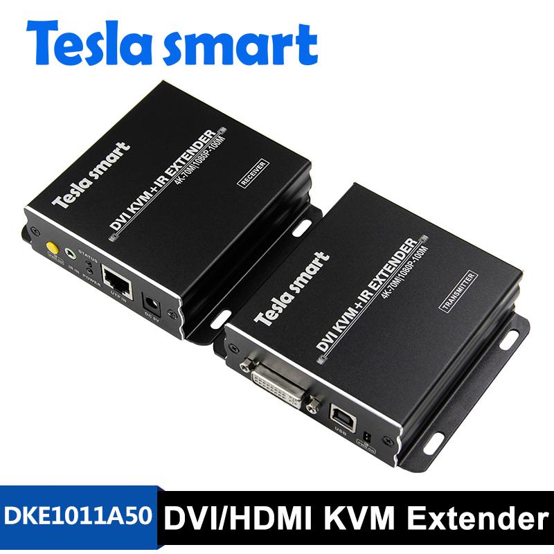 100M DVI/HDMI KVM+IR Extender