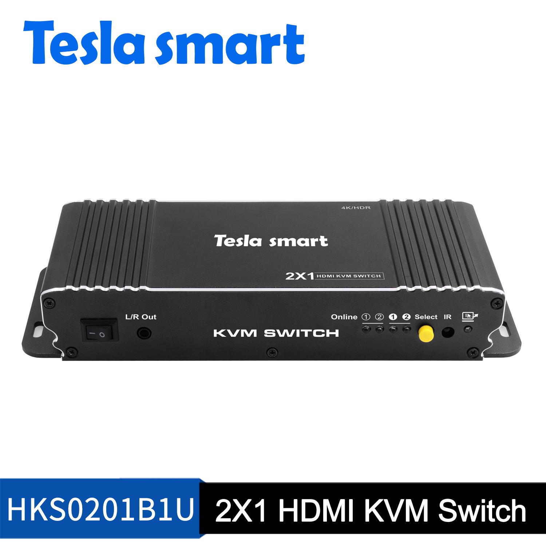 2 X 1 HDMI KVM Switch 4K@60Hz 4:4:4